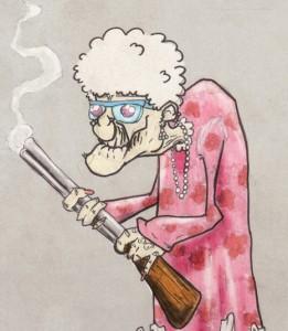Vanaema püssiga